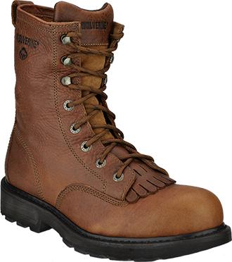 """Men's Wolverine 8"""" Kiltie Lacer Work Boots W08394"""
