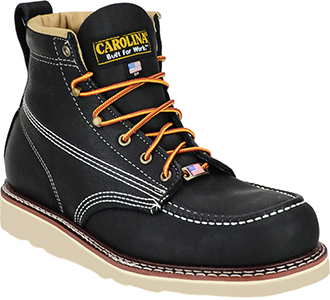 "Men's Carolina 6"" Moc Toe Wedge Sole Work Boot (U.S.A.) CA7012 2"