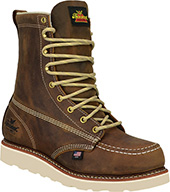 """Men's Thorogood 8"""" Steel Toe Boots (U.S.A.) 804-4478-GWP502 with Free Gift Lace"""